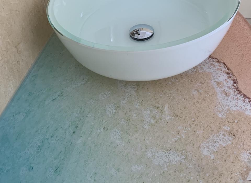 Residence Riccione Veliero lavabo spiaggia mare