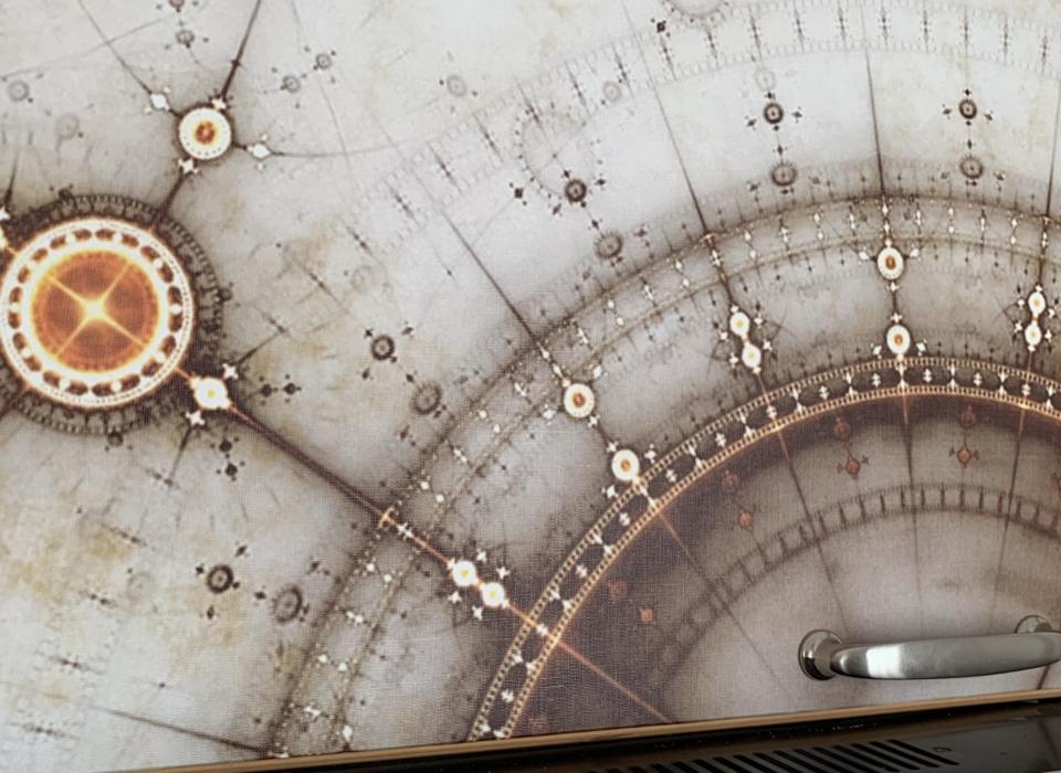 residence Riccione cucina mappa stellare