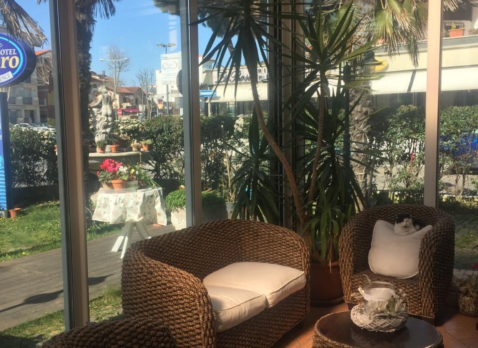 la veranda del residence a Riccione Veliero